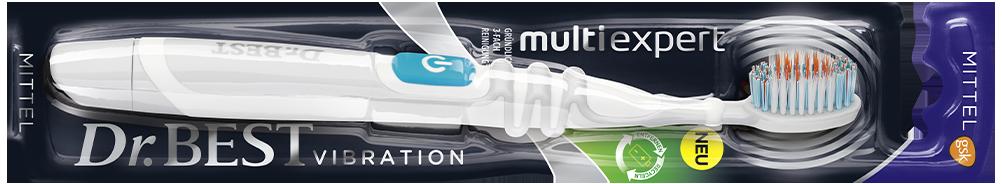 Dr.BEST Vibration multi expert: Mit Spezialbürstenkopf für